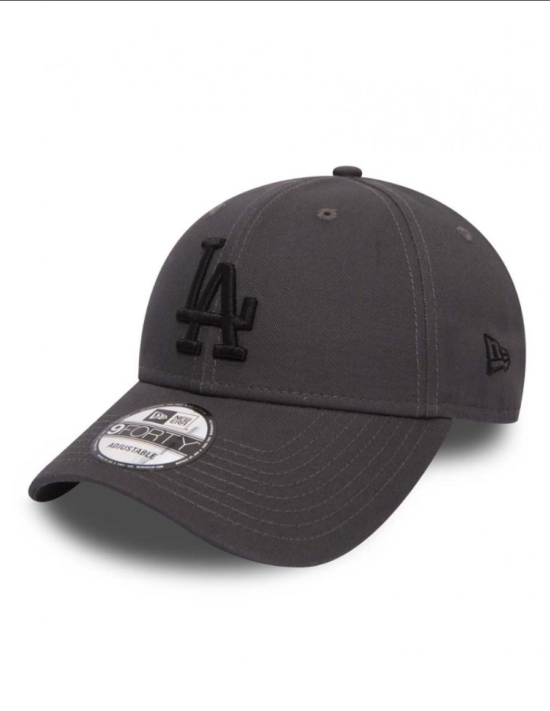 New Era 9Forty League Essential (940) Los Angeles Dodgers Graphite Black