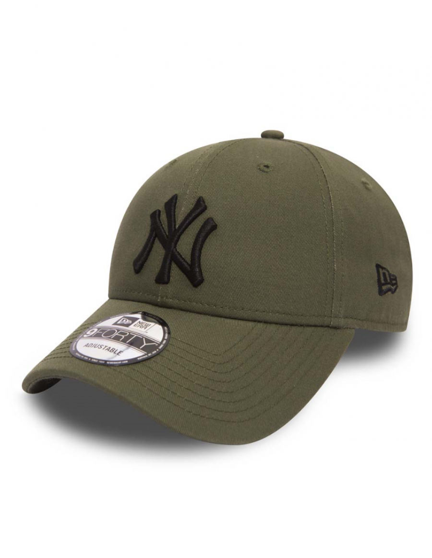 3f81b8f9552 New Era 9Forty League Essential (940) New York Yankees Olive Black + ...