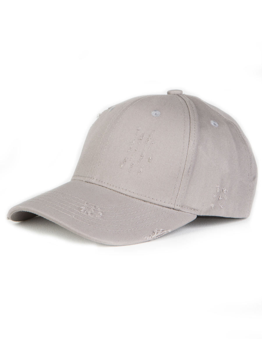 NVLTY London Distressed Curved cap - grey