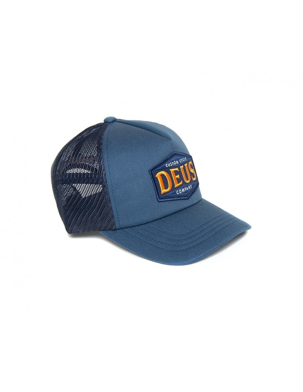 DEUS American Twin Trucker cap - Petrol Blue