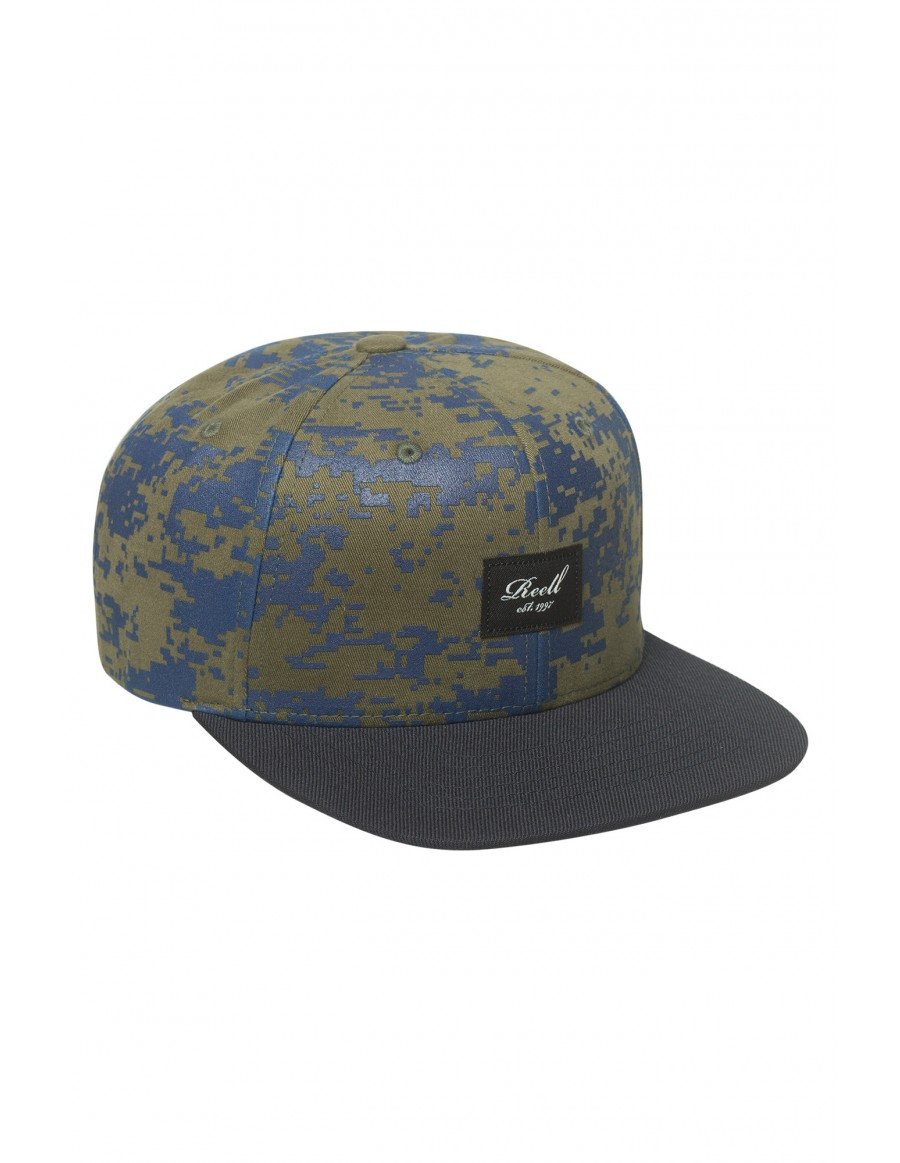 Reell 6 panel Pitchout snapback Scale Camo / Dark Navy