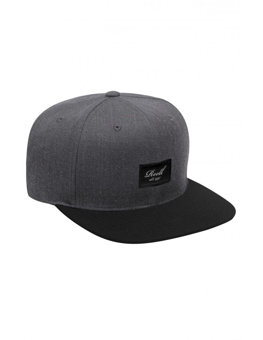 Reell 6 panel Pitchout snapback Heather Charcoal / Black