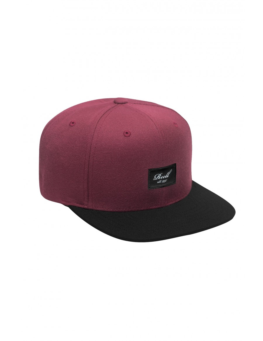 Reell 6 panel Pitchout snapback Maroon / Black