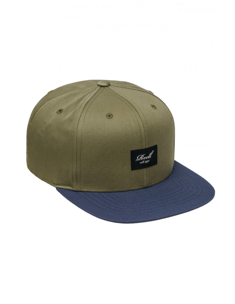 Reell 6 panel Pitchout cap snapback coffee indigo