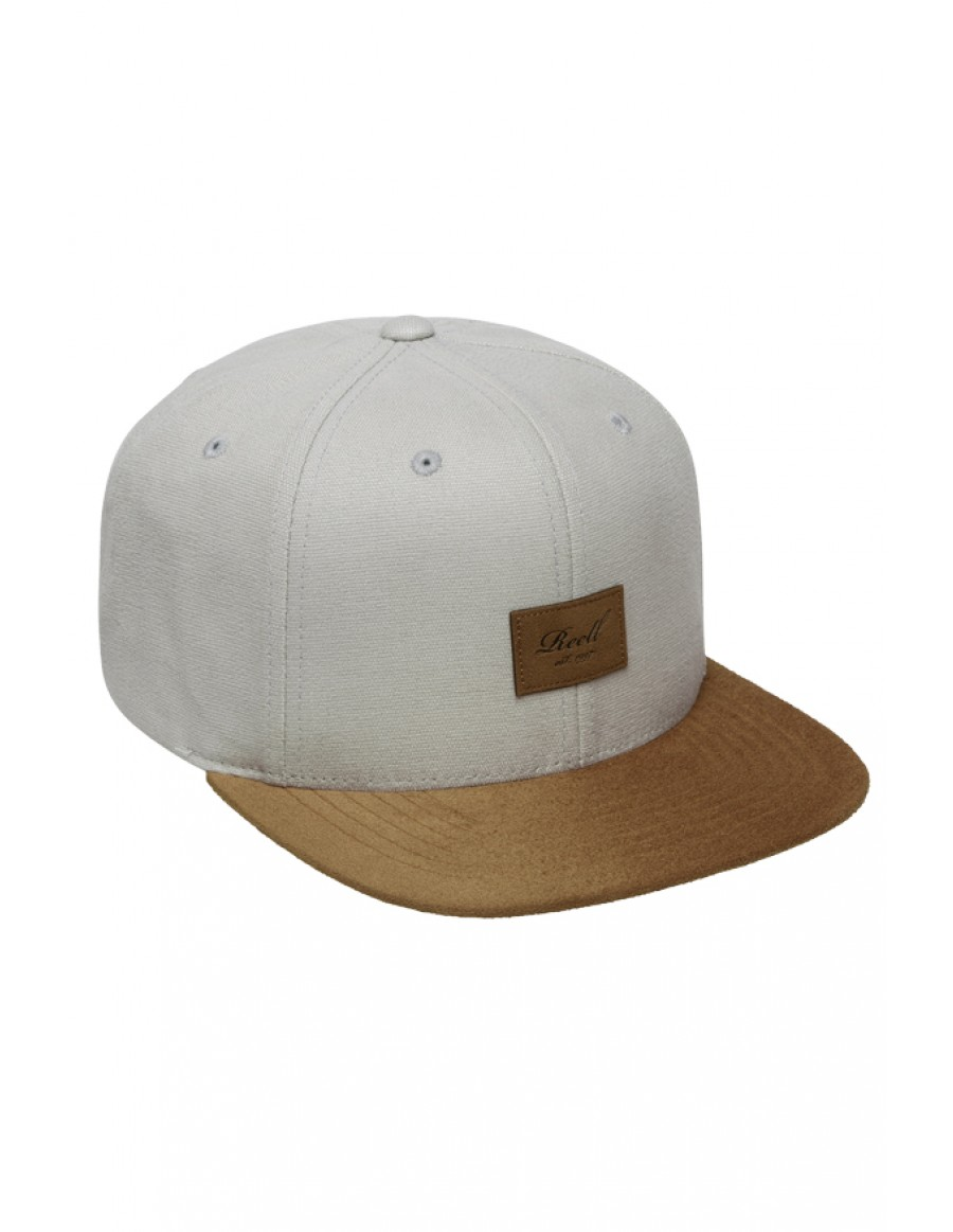 Reell 6 panel Suede cap snapback Ice grey