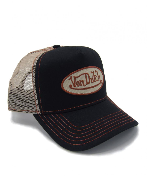 Von Dutch Logo trucker cap - black red