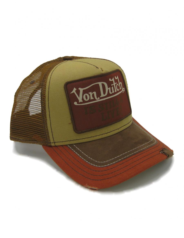 Von Dutch Still Alive Square cap - brown