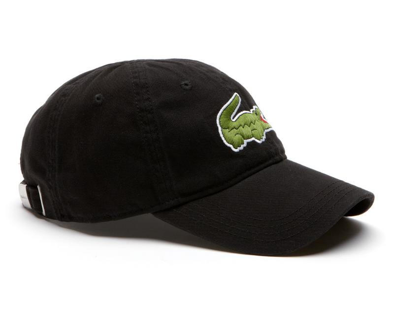c4ede6d4 Lacoste hat - Big Croc Gabardine - noir black - €44,95 + LOW shippingcosts