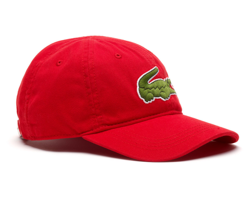 2b4ddd5a642 Lacoste hat - Big Croc Gabardine - rouge red - €44