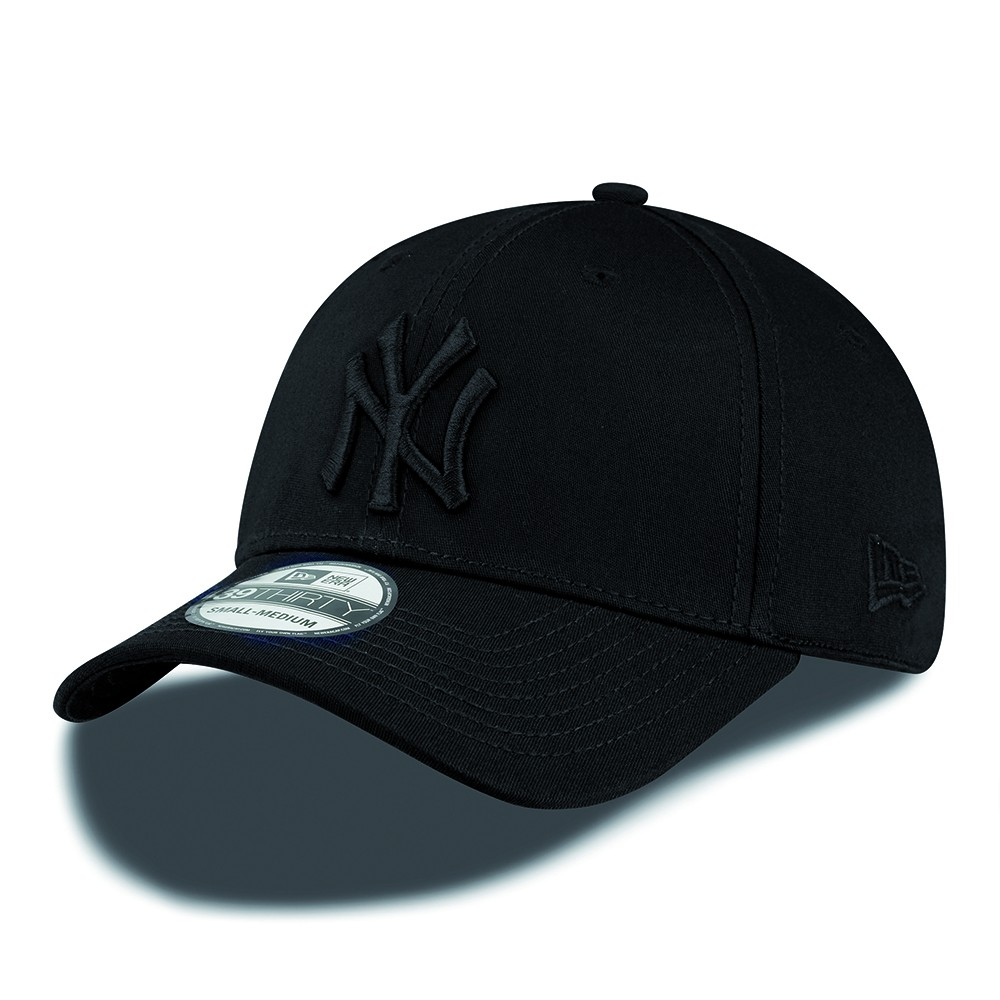 New Era 39Thirty Curved cap (3930) NY New York Yankees - black black + LOW  shippingcosts 9e710c68773