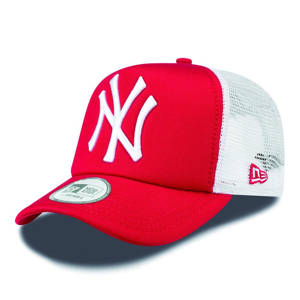 New Era Trucker cap NY New York Yankees - red + LOW shippingcosts 19bafbf72b6