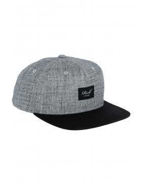 Reell 6 panel Pitchout snapback Heather Grey-Washed Black
