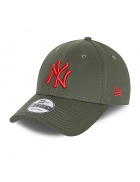 New Era 9Forty League Essential (940) NY Yankees - Olive/Red