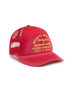 DEUS Bleached Venice Trucker cap - Carmine