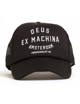 DEUS Amsterdam Address Trucker cap - Black