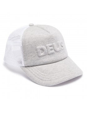 DEUS Hat Trucker Capital Letters- grey marle