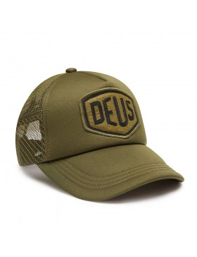 DEUS Trucker hat Felt Shield - olive