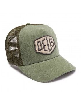 DEUS Trucker hat Foxtrot Shield - olive