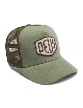 DEUS Trucker hat Foxtrot Shield - olive