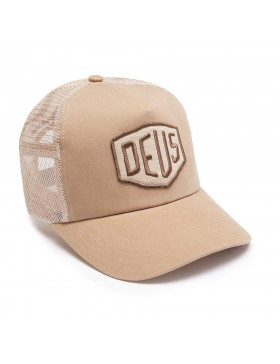DEUS Trucker hat Foxtrot Shield - tan