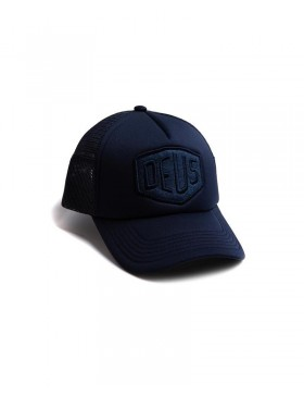 DEUS Fleece Shield Trucker cap - Midnight Blue