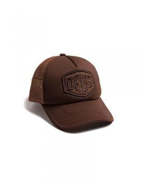 DEUS Fleece Shield Trucker cap - Brown