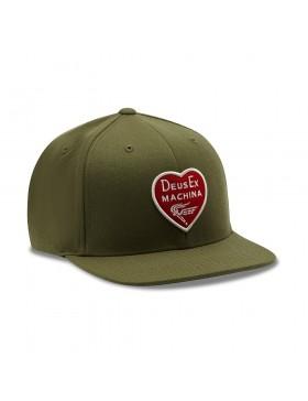 DEUS Heart Baseball cap - Olive