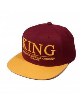 KING Apparel Krest Select Snapback Maroon-Mustard - Sale