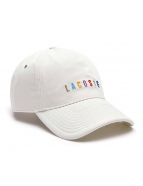 Lacoste cap - Multicolor cap - Blanc
