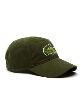 Lacoste hat - Big Croc Gabardine - boscage green