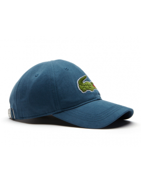 Lacoste hat - Big Croc Gabardine - legion blue