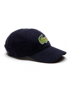 Lacoste hat - Big Croc Gabardine - navy blue