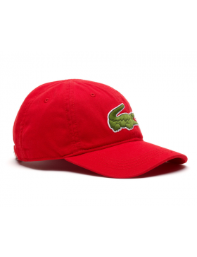 Lacoste hat - Big Croc Gabardine - rouge red