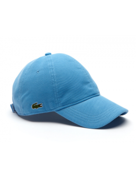 Lacoste hat - cotton pique - thermes blue