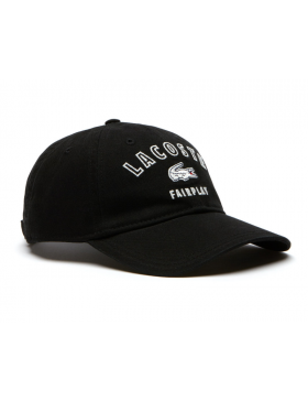 Lacoste hat - Fairplay - noir black