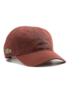 Lacoste hat - Gabardine cap - cevennes brown