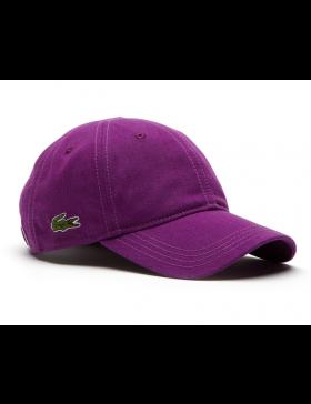 Lacoste hat - Gabardine cap - cosak purple