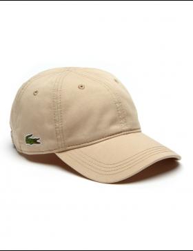 Lacoste hat - Gabardine cap - krema brown