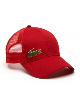Lacoste hat - Trucker cap - red