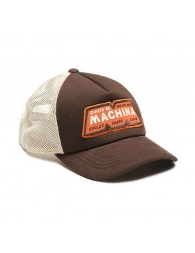 DEUS ex Machina Trucker cap - Tobacco Brown