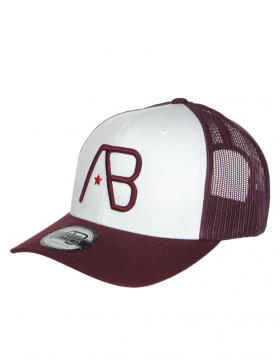 AB cap Retro Trucker - Maroon / White