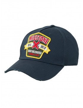 Milestone Relics Patched Brotherhood Baseball Cap – Blue