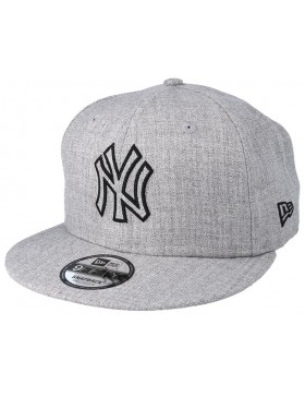 hot sale online 95370 3c5d8 New Era 9Fifty MLB Heather Essential (950) NY New York Yankees - Gray