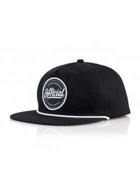 Official Cap Quise Snapback - black