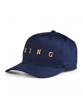 KING Apparel Tennyson Gold Curve Peak cap - Ink