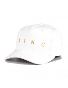 KING Apparel Tennyson Gold Curve Peak cap - White