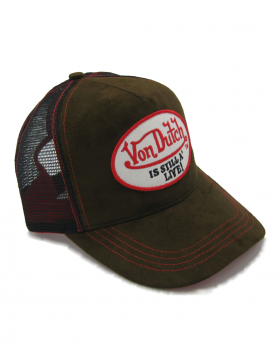 Von Dutch Still Alive Leather trucker cap - brown