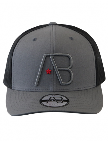AB cap Retro Trucker - graphite grey - black
