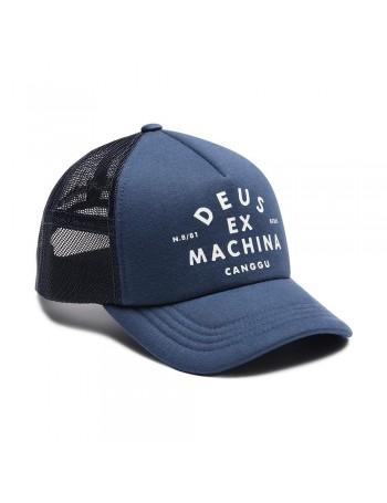 DEUS Austin Venice Trucker Cap - Mid Blue