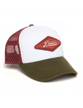 DEUS Hat Diamond Trucker - olive